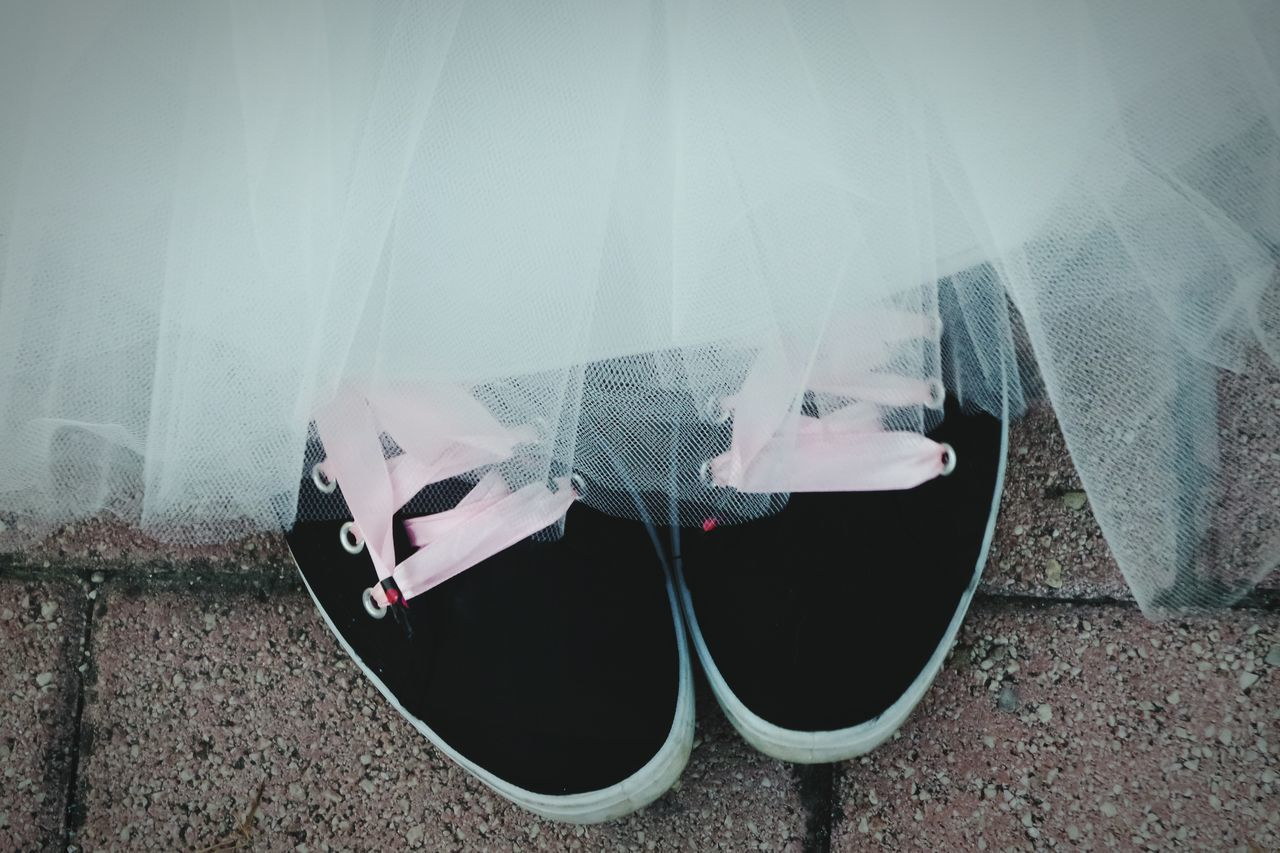 Low Section Of Bride In Shoes