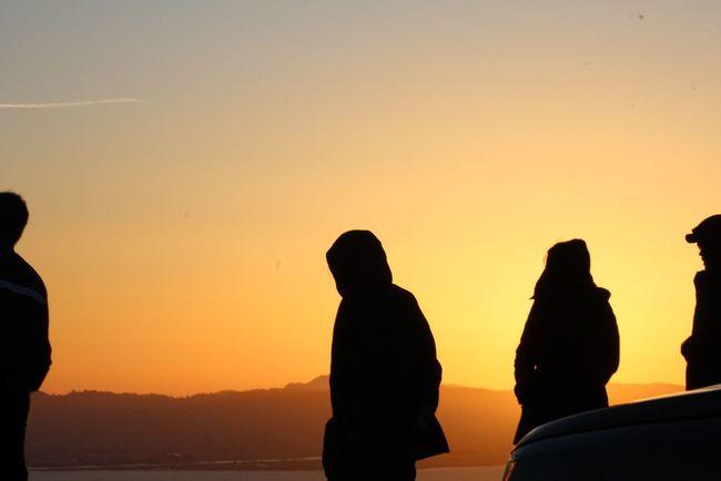 Sunrise In San Francisco San Francisco Bay Twin Peaks Viewpoint San Francisco Eyem Gallery Eyemphotography Sunrise Sunrise Silhouette Observing The Sunrise Sunrise_Collection Silouette & Sky Eye4photography