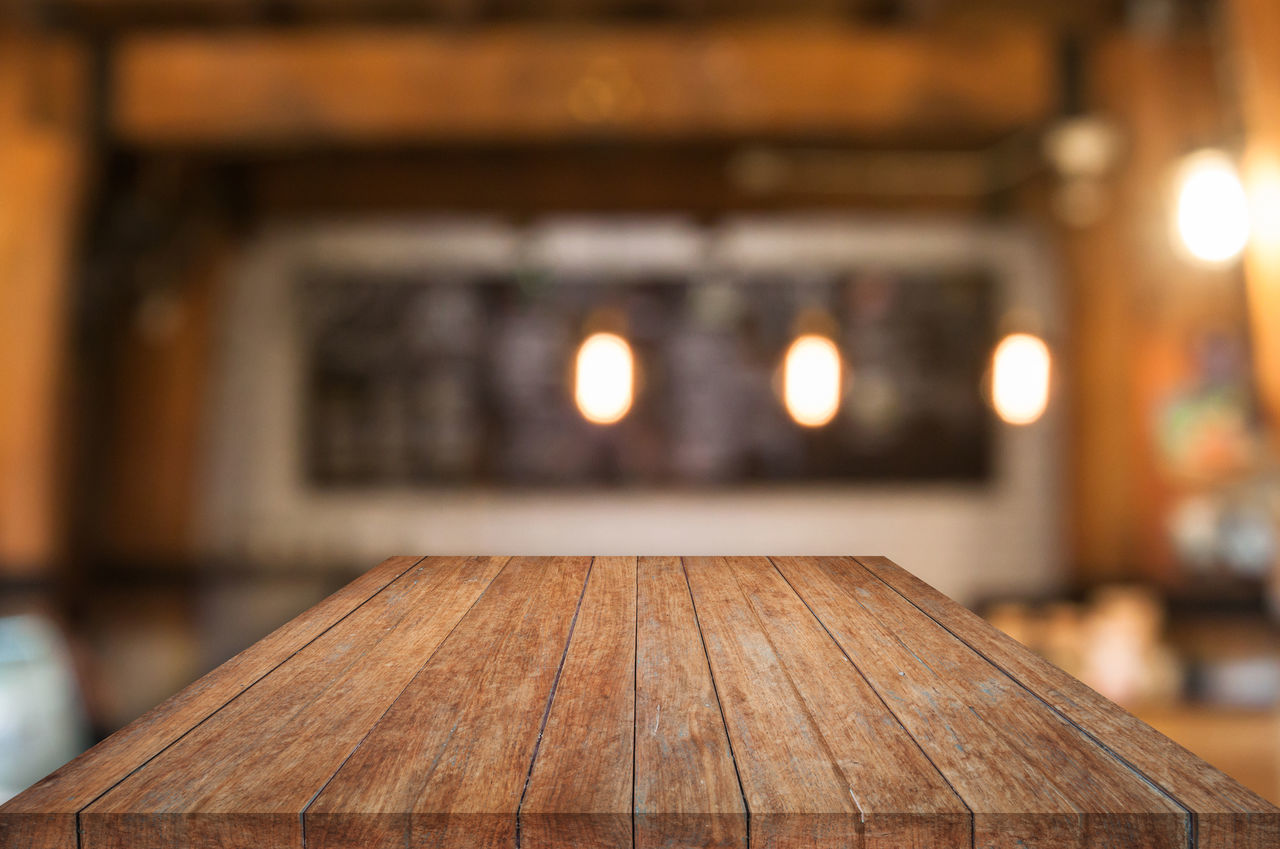 wood - material, focus on foreground, table, no people, close-up, indoors, illuminated, day