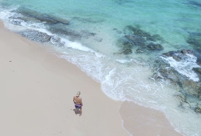 Time : 11:00 am Alone Beach Beauty In Nature Day Full Length High Angle View Horizon Over Water Lifestyles Motion Nature One Person Outdoors Paradise Real People Sand Scenics Sea Seashore Shore Surf Tranquility Vacations Water Wave EyeEmNewHere