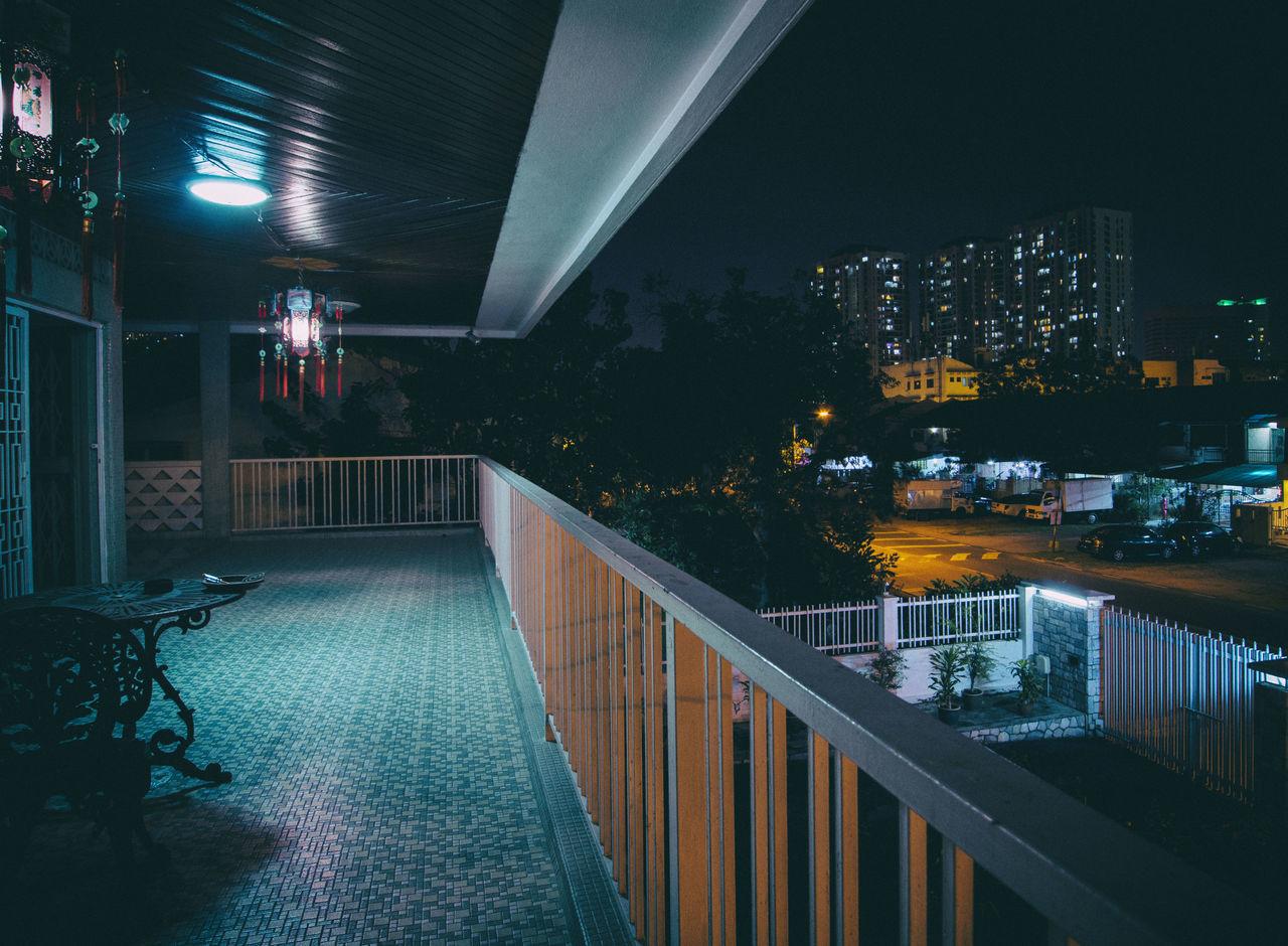 View from Balcony Architecture Balcony Blueandblack Bluenight House Marble Nightphotography PavelMyshkovskiy Textured