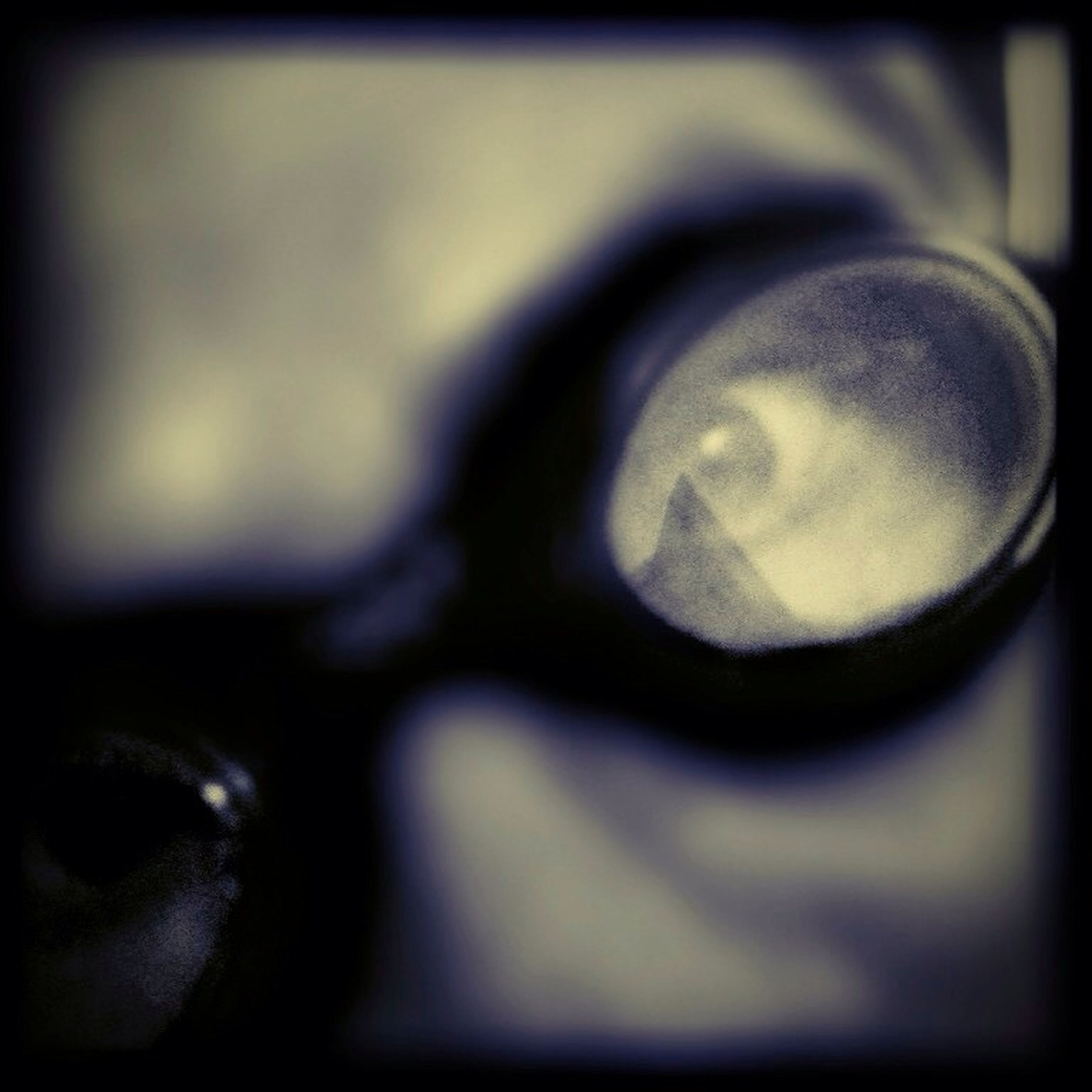 close-up, indoors, auto post production filter, reflection, transfer print, selective focus, focus on foreground, part of, sunglasses, headshot, detail, day, photography themes, human face, human eye, cropped, glass - material