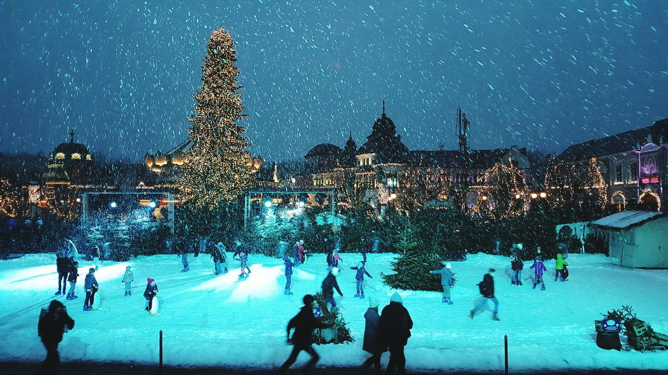 Phantasialand Schnee Winter Freizeitpark