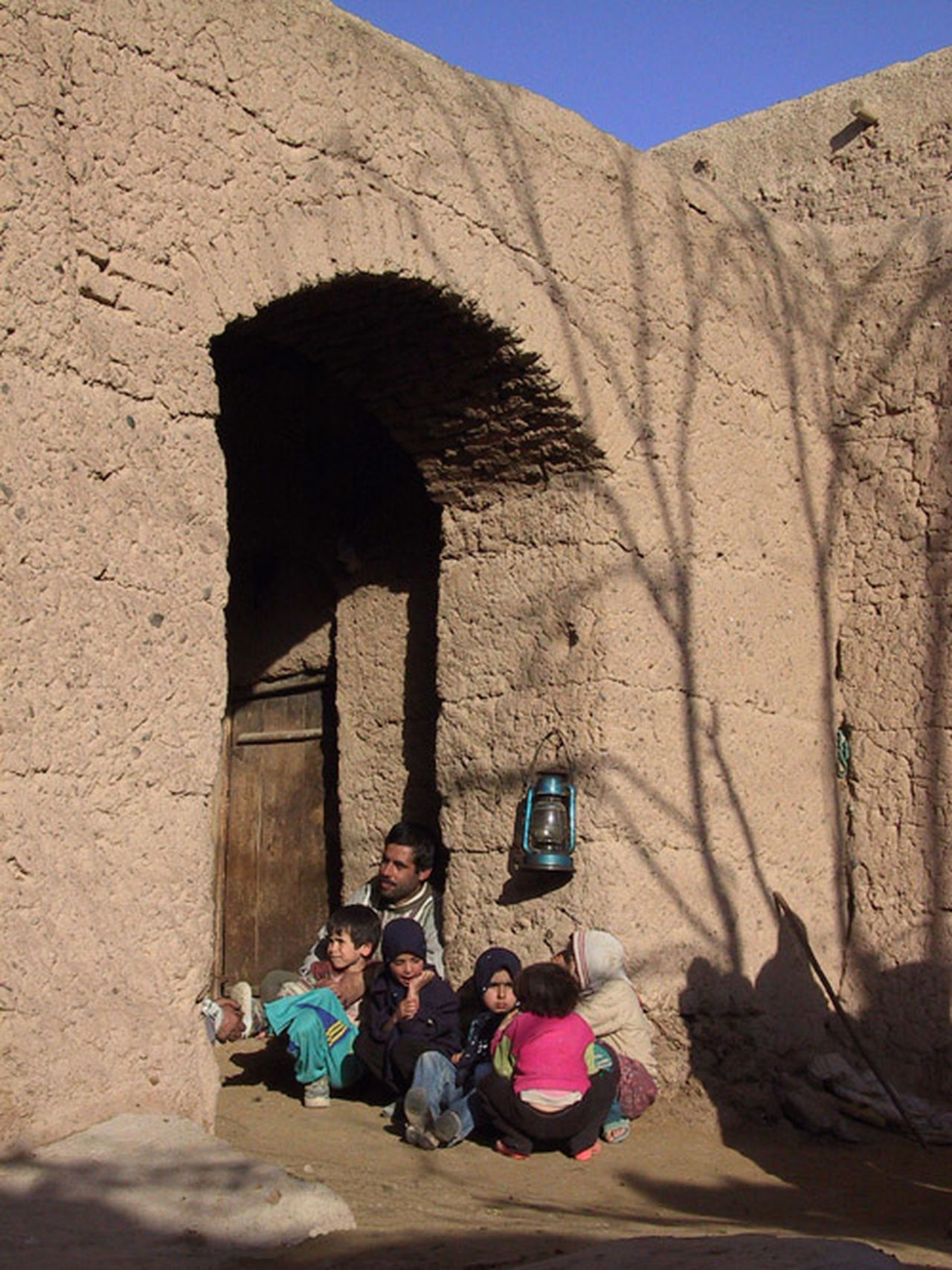 Village Middle East Travel Family Time Oil Lamp Clay Walls Poor N Happy