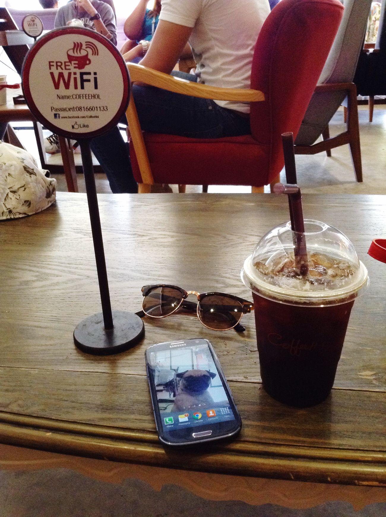 Coffee Break .... Cafe Americano Chilling Iced Coffee