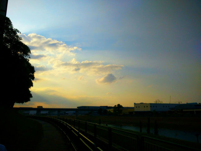 Blue Sky Evening Sky Evening Walk EyeEm Best Shots EyeEm Nature Lover Sky_collection Skylovers Sunlight Sunset Silhouettes Sunset_collection