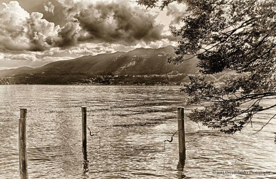 Lake View Sea And Sky Malinchonic Landscape Monochrome Black & White Blackandwhite Photography Monochromatic Mountains And Sky
