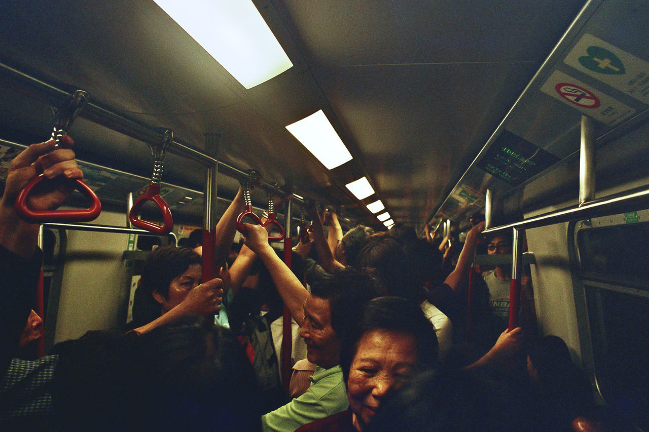 Passengers In Traveling In Train