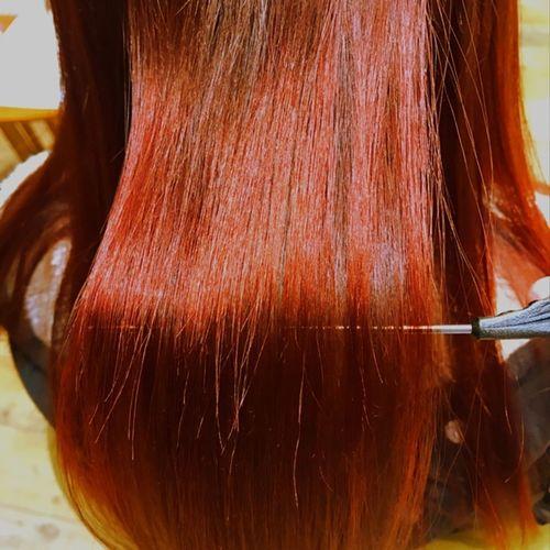 アディクシー艶カラー💇 アディクシーカラー アディクシー ヘアカラー ヘアスタイル BESHINE ビィシャイン社店 ホリスティックカラー ホリスティック Human Hair Hair Care Rear View Close-up Women Real People Indoors  Beauty Treatment One Person Day People