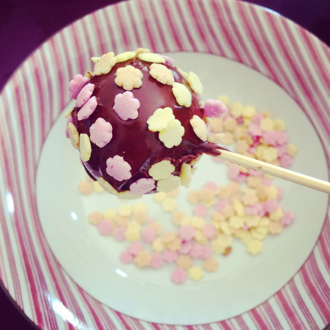 Chocolate cakepop with sprinkles top view Bowl Cake Cakepop Cakepops Candy Chocolate Close-up Dessert Dessert Food Food And Drink Freshness High Angle View Indoors  Pastry Plate Popcake Ready-to-eat Shiny Sprinkles Stick Sweet Sweet Food