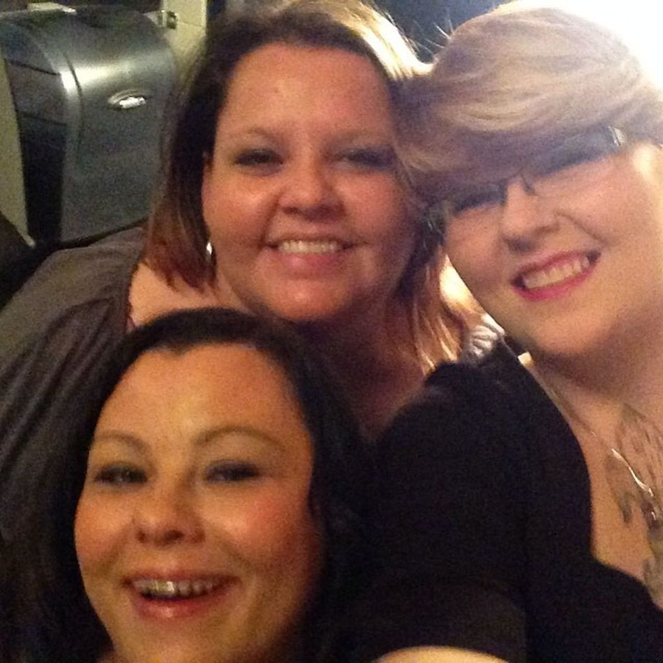 Love these girls! We had a great night last night. SaturdayNightOut Shakeyourtailfeathers Mygirls