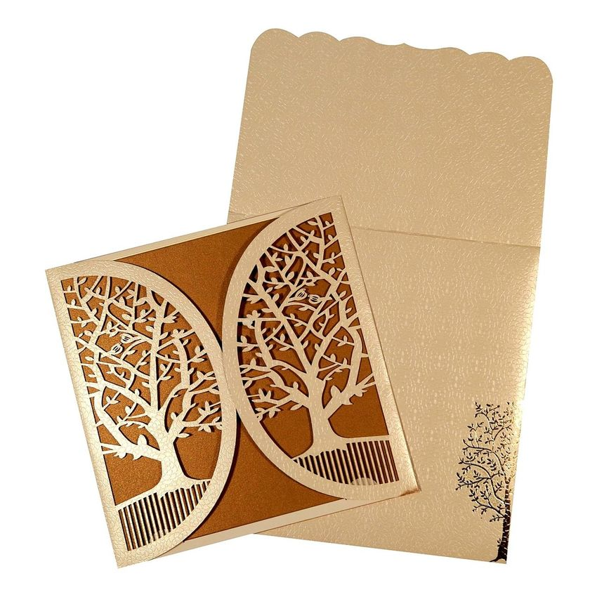 Laser cut invitations | C-1632 | 123WeddingCards 123WeddingCards Laser Cut Invitati Laser Cut Wedding Invi Laser Cut Wedding Invitations Laser Cuted Stainless Steel Laser Cutting Laser Wedding Invitati