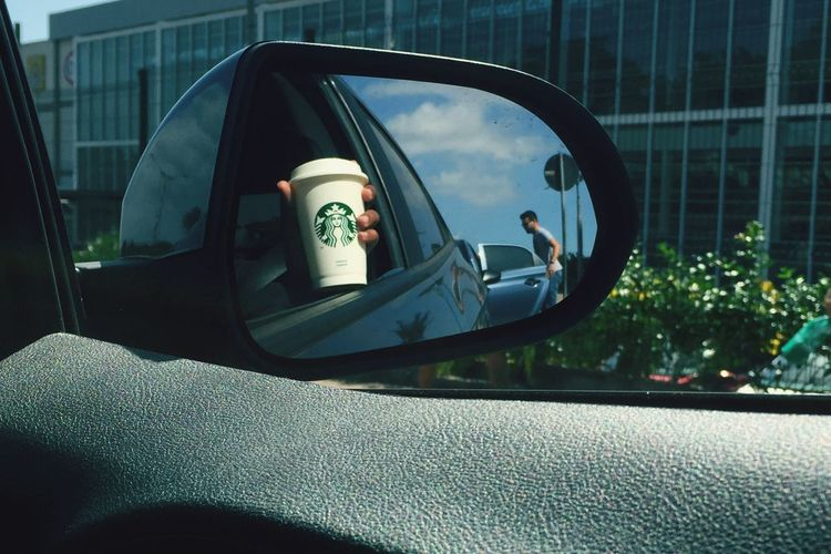 Transportation Retrovisor Car Porta Door Espelho Starbucks Day Patience Paciencia Dayforday Photo Photography Imagination Destruido
