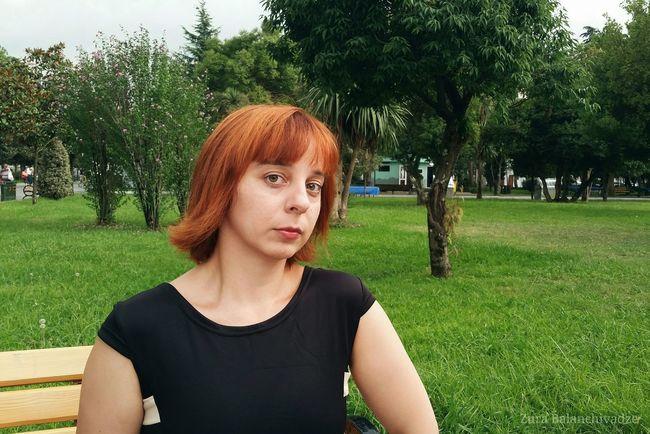 Her elenance. Friend Girl Elegant Black Dress Red Hair Batumi BIAFF Biaff2015