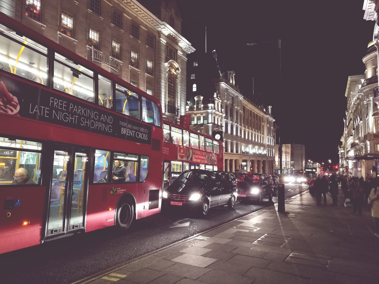 City Night Illuminated London Bus London By Night