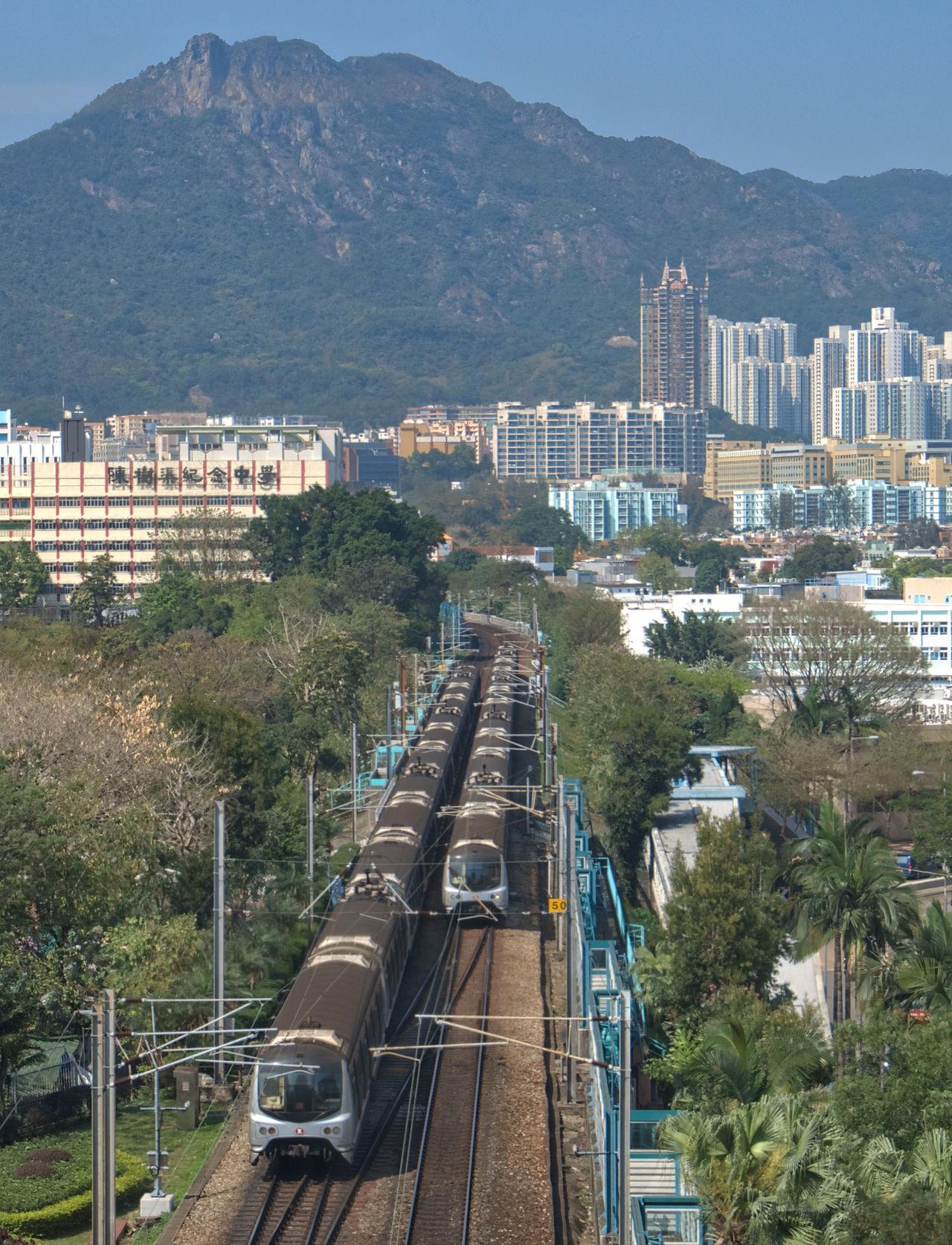 Lion Rock train Built Structure Cityscape DSLR Dslrphotography High Angle View HongKong Pentax Train Train - Vehicle Train Tracks Trains Transportation