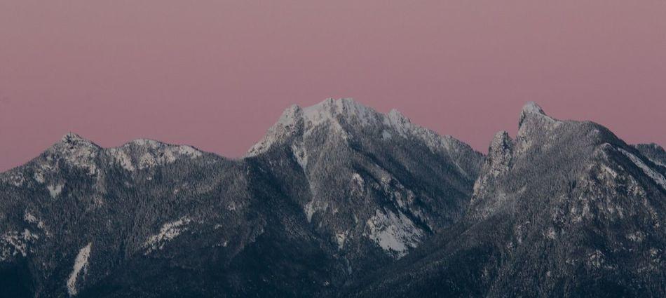 Sleeping bear under a pink sky Bowen Island Pink Sky Bear Mountains Mountain Range Mountains And Sky Bear Mountain