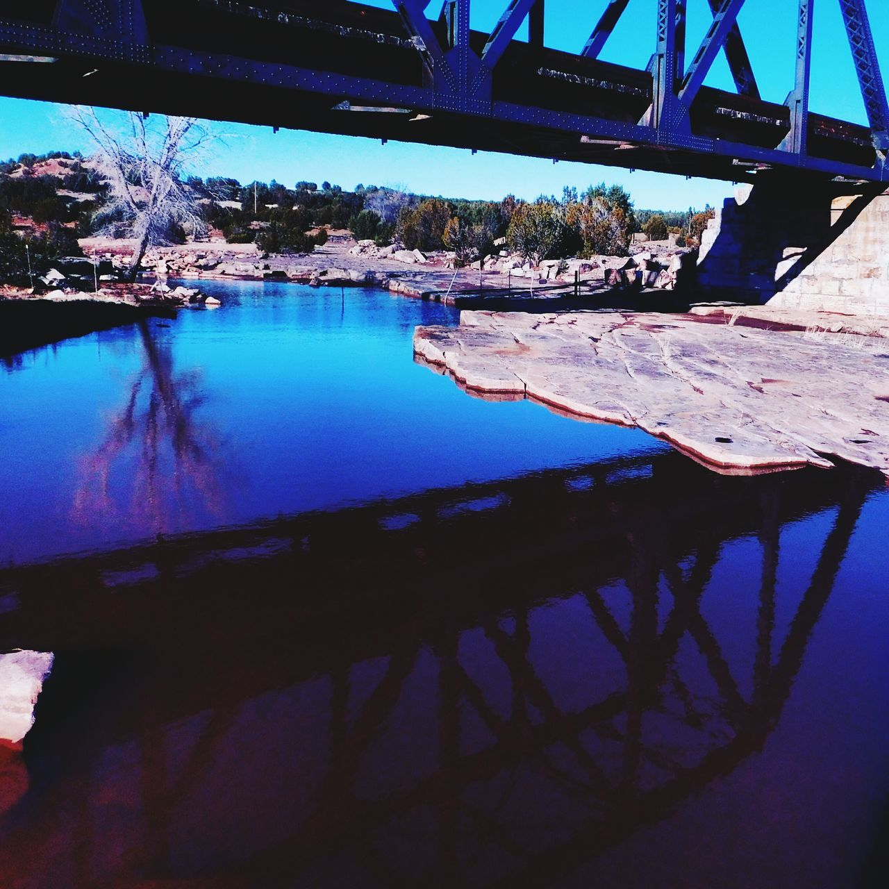 Reflection Water Outdoors Bridge - Man Made Structure Cloud - Sky Newmexicoskies Newmexicophotography NewMexicoTRUE Newmexicoskys Desert Scenics Rural Scene Sky