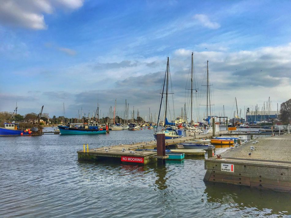 Water Sea Boats Sky And Clouds Skyporn HDR Lymington United Kingdom Bright Sunnydays