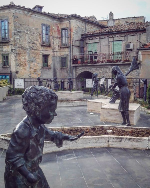Architecture Building Exterior Statue Sculpture Statues Sculptures Art Museum Museo All'aperto Open Museum Stone Material Stone Architecture Casalciprano Molise Italy Village Borgo Antico Italia Borgo Street Art Architecture Built Structure Outdoors Creativity Creative