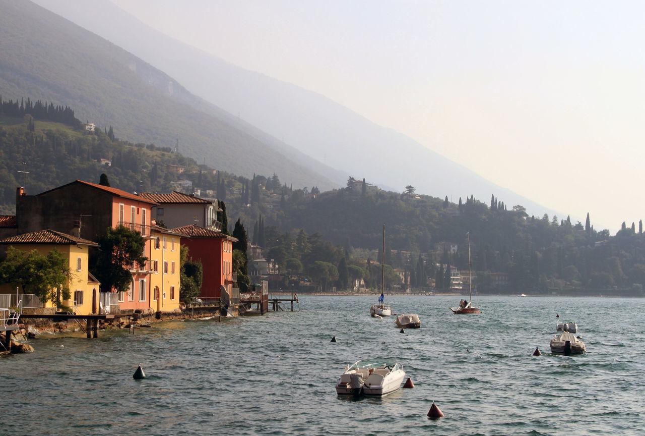 Architecture Fog Garda :) Garda Lake Italy Gardasee Lago Di Garda Malcesine Malcesine Castle Mountain Nautical Vessel No People Outdoors Travel Destinations