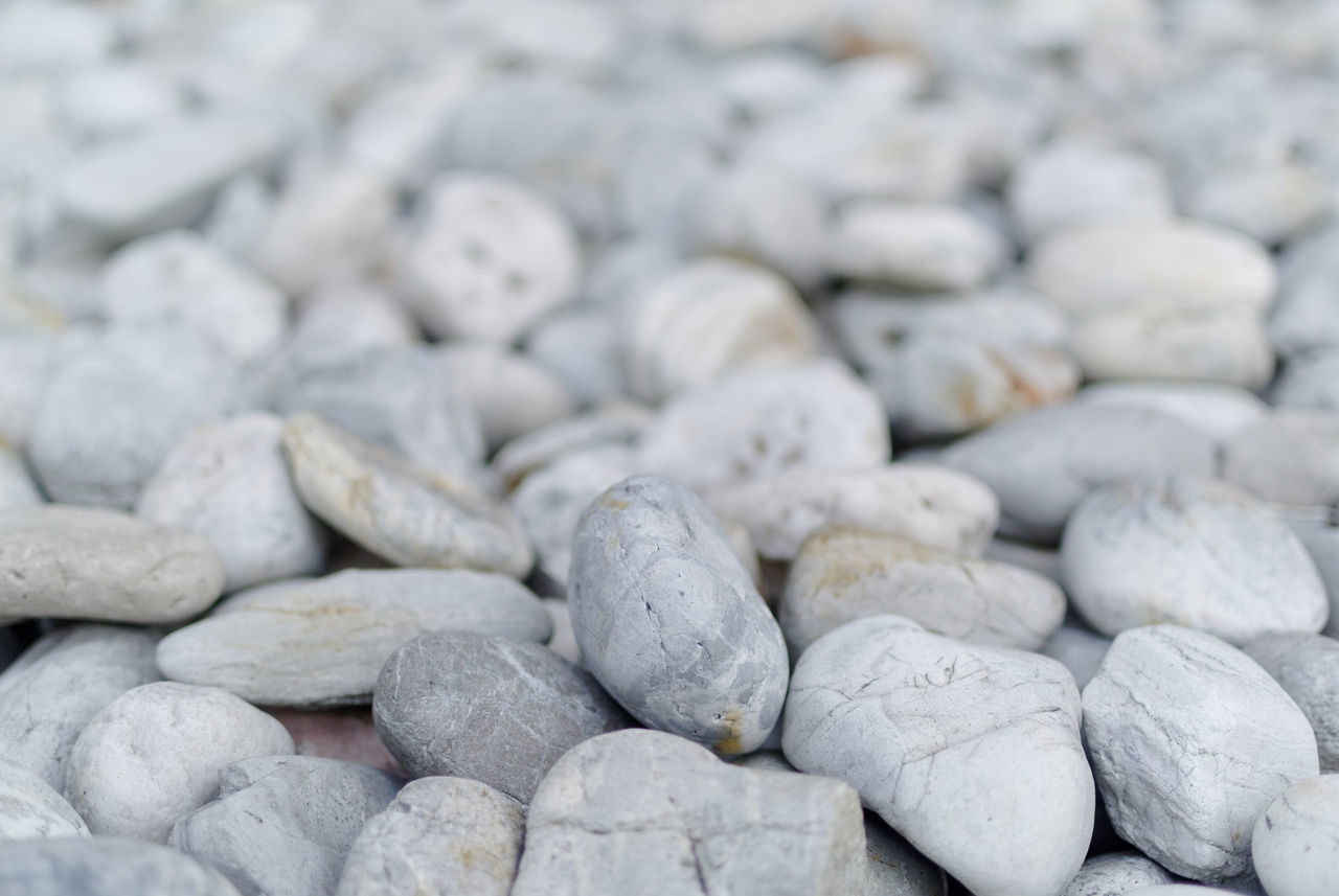 Abundance Backgrounds Beauty In Nature Close-up Day Detail Focus On Foreground Full Frame Heap Large Group Of Objects Natural Pattern Nature No People Outdoors Pebble Rock Rock - Object Selective Focus Stone Stone - Object