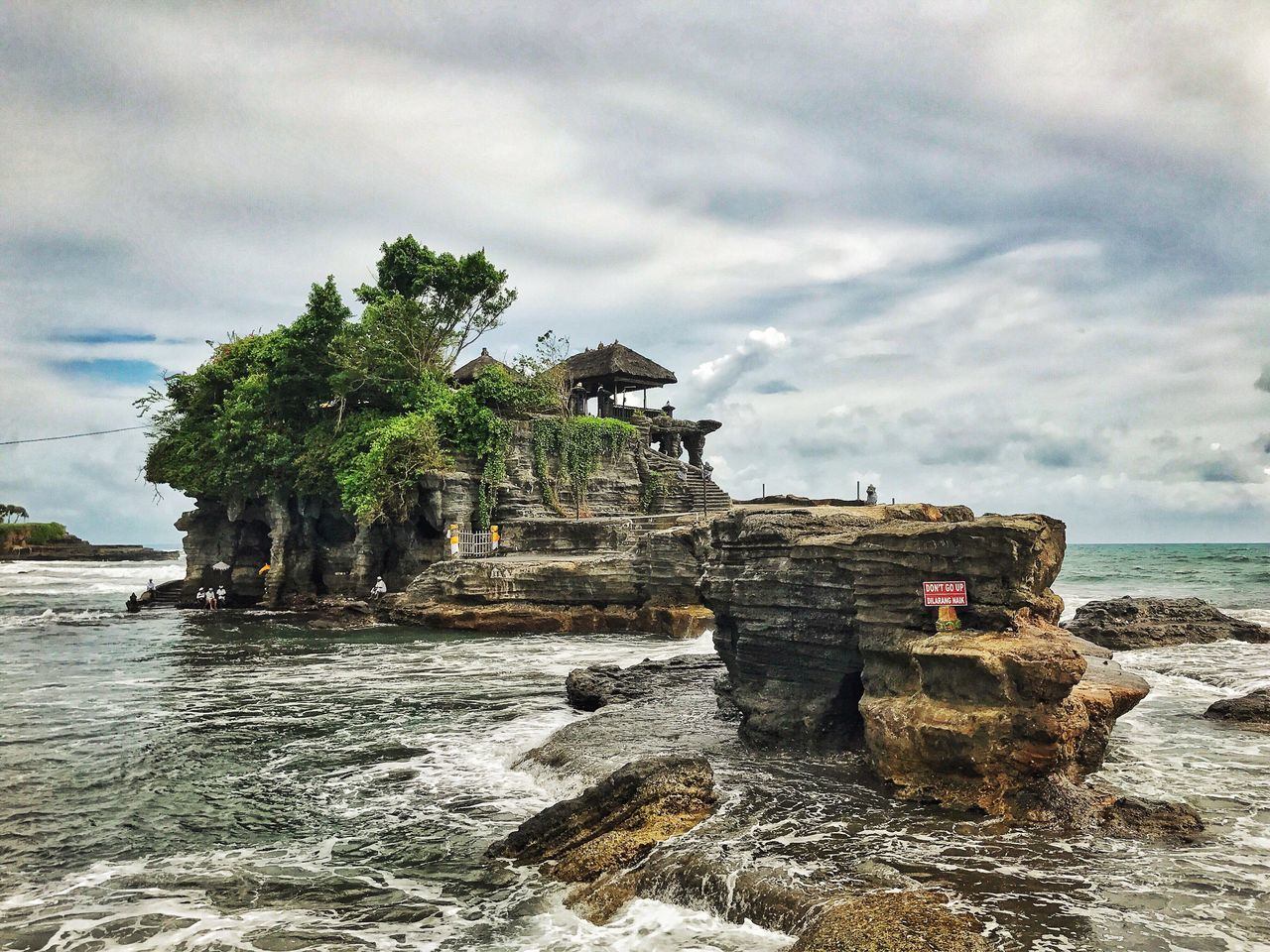 Water Sea Sky Nature Cloud - Sky Outdoors Day Beauty In Nature Scenics Architecture Statue Bali Tanah Lot Temple Hinduism Faith Religion
