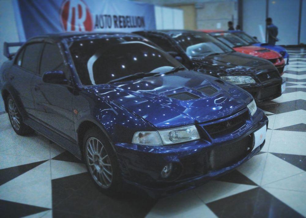 Car Transportation Land Vehicle No People Indoors  Illuminated CarShow Mitsubishi Evo