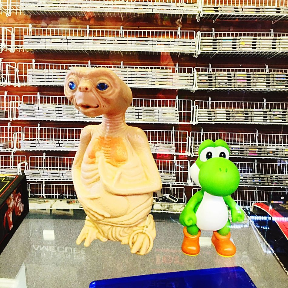 In A Comic Book And Vintage Store With My Grandson E.T. Phone Home I'll Call You Help Yoshi 😂 Gotta Love It