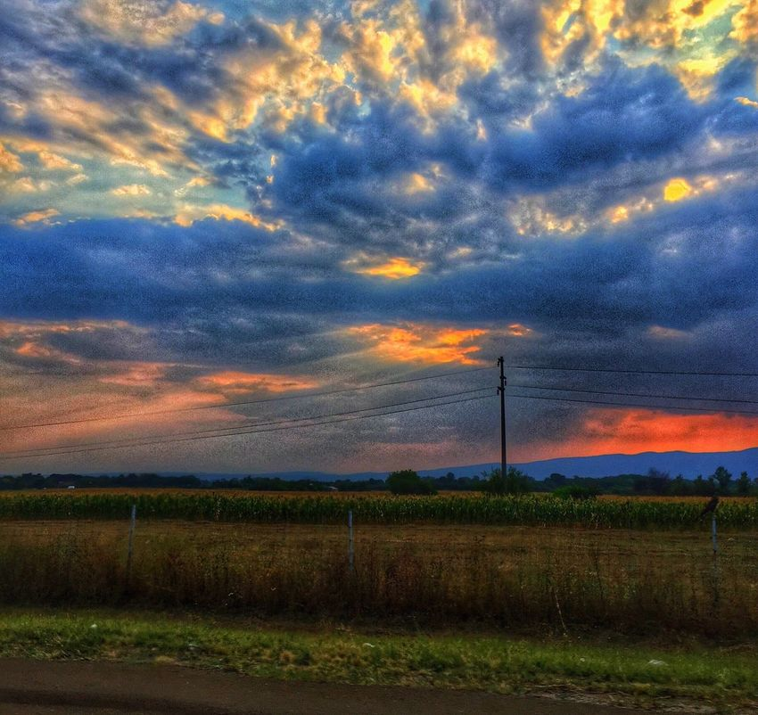 Sunset... Landscape Photography IPhoneography Sunset Clouds And Sky Clouds HDR Blogger Luxembourg