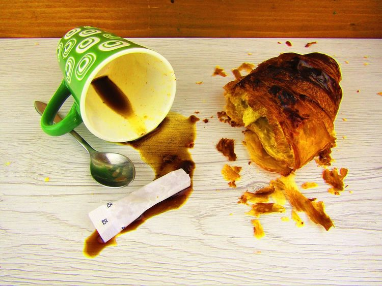 coffee end croissant for breakfast Annecy Breakfast Close-up Coffee Croissant Crumbs Day Directly Above Food Food And Drink Freshness Healthy Eating High Angle View Indoors  Italian Coffee Italy Holidays Leftovers Love Food No People Ready-to-eat Still Life Photography Story Of My Table Sugar Table Yummy