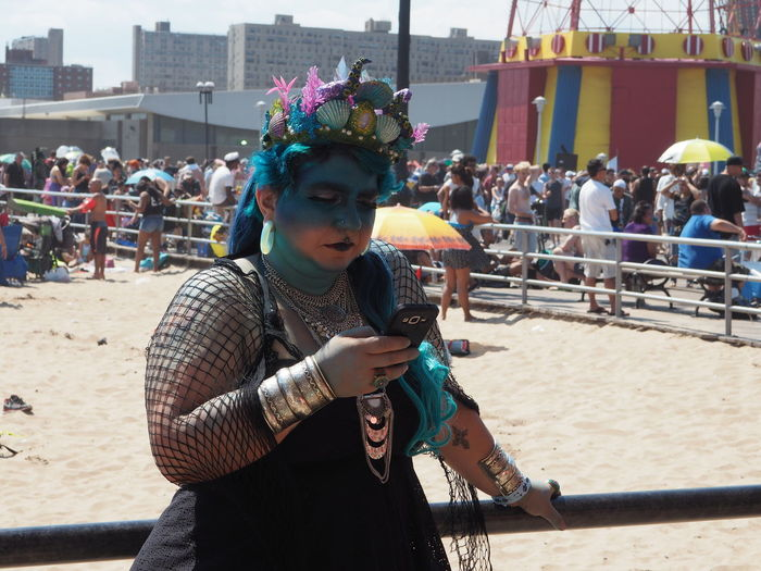 Artistic Expression Artistic Photography Beach Sand Brooklyn Coney Island Coney Island / Brooklyn NY Coney Island Beach Mermaid Mermaid Parade 2016 Solo Persona