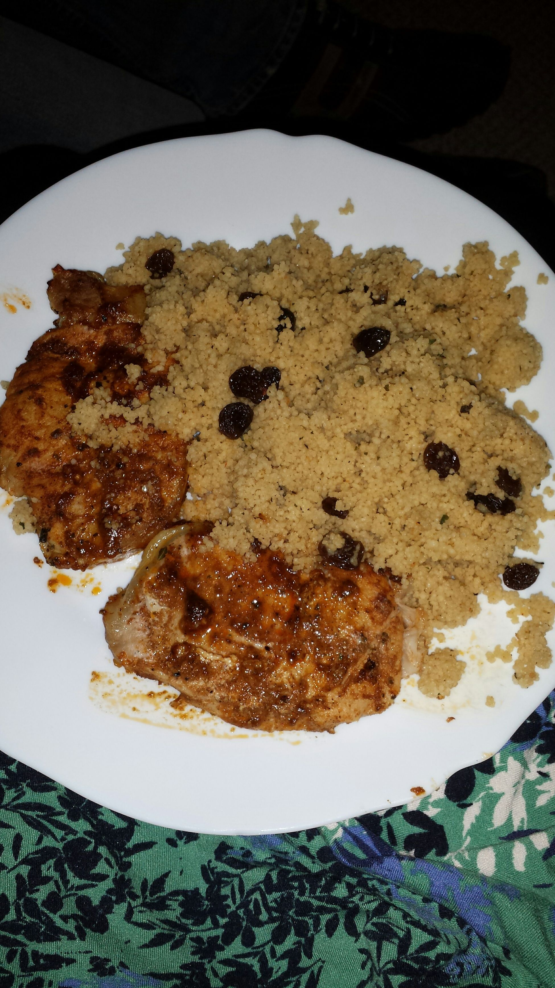Whats For Dinner? Morrocan pork and couscous