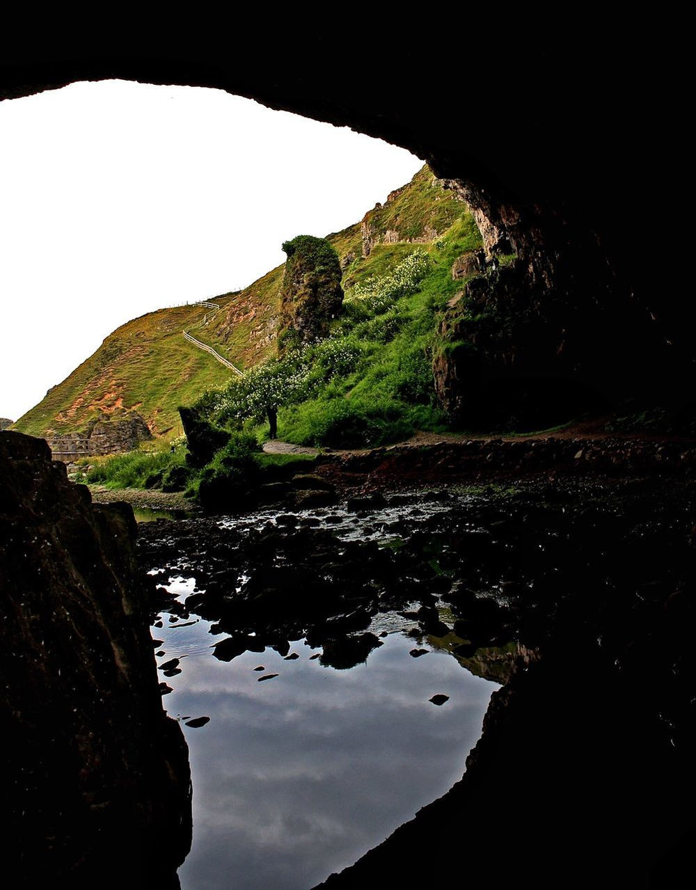 Smoo Cave entrance, Durness, Scotland, UK. 29th July 2013 Smoo Cave Caves Scotland Water Reflections