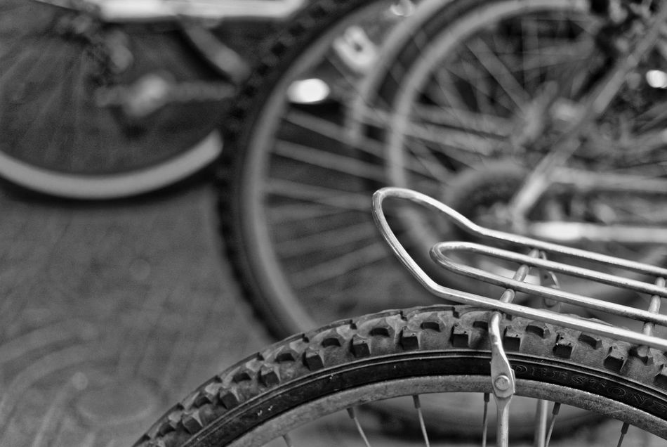 Bicycle Bicycle Rack Close-up Cycling Day Gear Land Vehicle Mode Of Transport No People Outdoors Pedal Spoke Stationary Tire Transportation Wheel