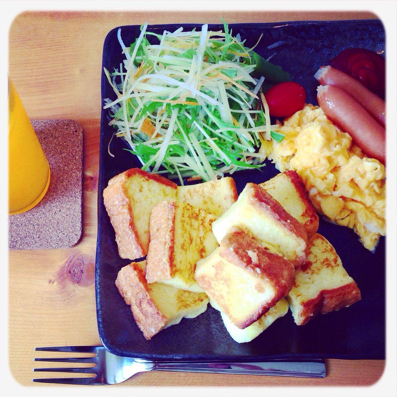 幸せ❤︎朝ごはん٩꒰ ˘ ³˘꒱۶ⒽⓤⒼ♥♡̷♡̷ Cafe Okinawa Breakfast