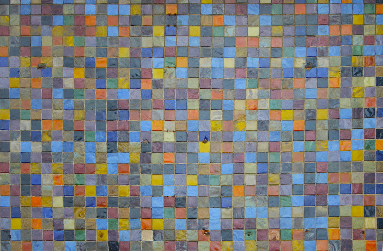 Colorful mosaic tiles, multicolor Abstract Arrangement Backgrounds Building Exterior Close Up Close-up Colorful Decor Decoration Detail Exterior Geometry Interior Design Medley Mosaic Multicolor Pattern Patterns Square Textured  Tiles Pastel Power Vivid Pattern Pieces Everything In Its Place