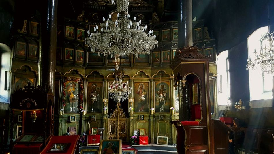 Religion Place Of Worship Indoors  Altar Architecture Orthodox Skopje Macedonia Church Iconostasis Icon Fresco Medieval Sacral Christianity Easter Heritage Art Shadow Ray Ray Of Light Chandelier Gilded Christian Temple st. Demetrius EyeEm Diversity The Secret Spaces
