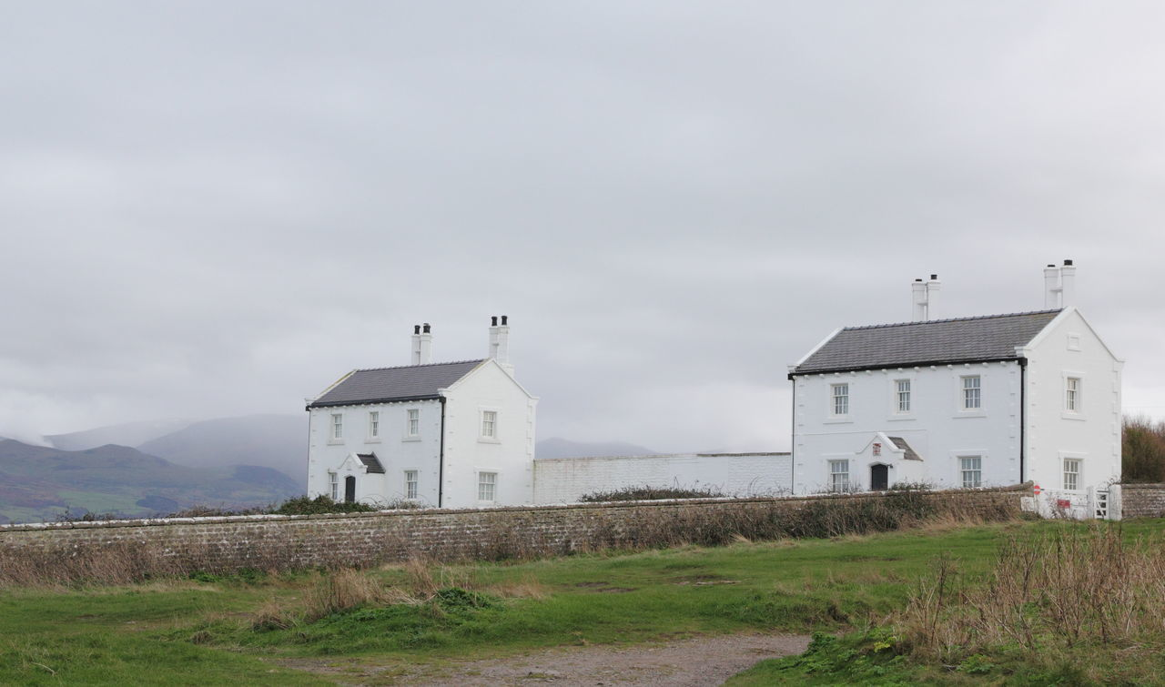 Anglesey Architecture Building Exterior Built Structure Composition Direction Environmental Conservation Exterior Factory Guidance Leading No People Outdoors Penmon Point Perspective Protection Religion Safety Security Sky Tall Tower