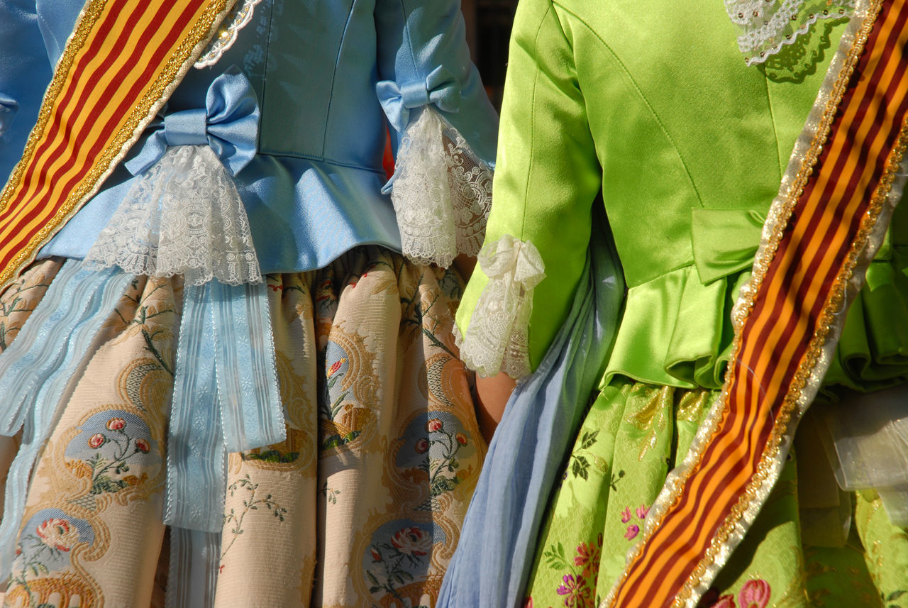 Girls in traditional dress in a procession during Las Fallas fiesta in Denia, Spain. Las Fallas marks St Joseph's Day, 19th March, which is also Fathers Day in Spain. Backgrounds Brocade And Lace Celebration Choice Close-up Colorful Day Dress Details Fiesta Full Frame Las Fallas Multi Colored Spanish Culture Spanish Fiesta Tradional Clothing Traditional Costume Variation Women Women Only
