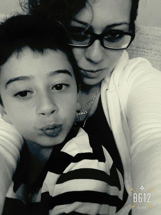 Mum & Son Eye4photography  Hello World EyeEm Today's Hot Look Selfportrait Happiness ♡ Love ♥ Eyeemblack&white Mumandson Blackandwhite