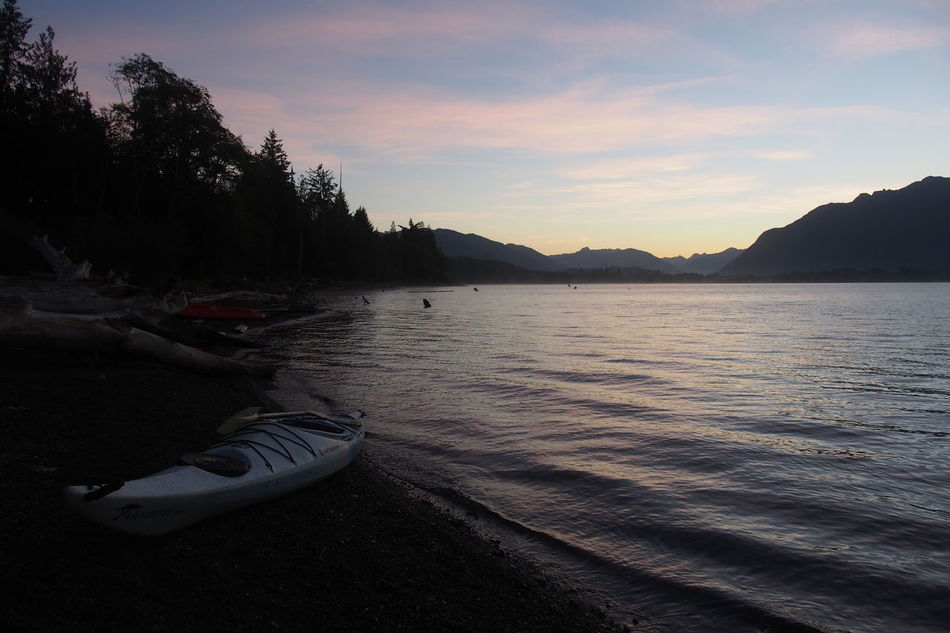 Beach Beauty In Nature Day Lake Mountain Nature Nautical Vessel No People Outdoors Pedal Boat Reflection Scenics Sky Sunset Tranquility Tree Water