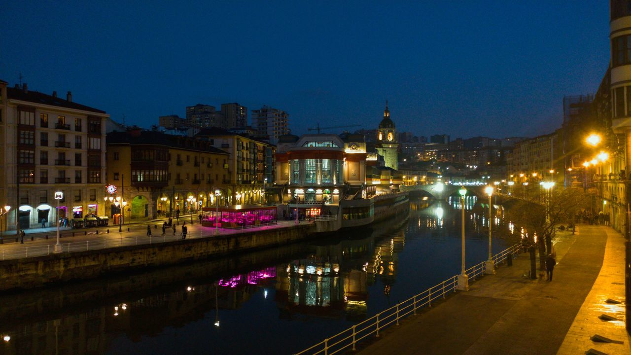 Blue Hour My Year My View Night City Outdoors Illuminated Bilbaolovers Bizkaia Bilbao No People Building Exterior