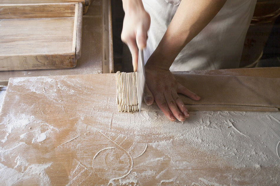 Adult Close-up Cutting Cutting Board Handcraft Handcrafted Human Body Part Human Hand Indoors  Japan Japanese Food Japanese Restaurant Japanese Style Noodles Occupation People Soba Noodles Tranquility Working
