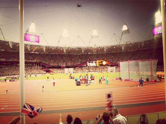 world records at Olympic Stadium by Sebastian Underhill