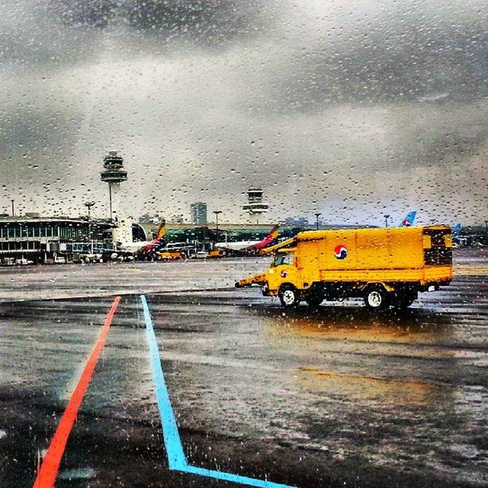 비 오는  제주공항 Rainy_day JeJu_airport JeJu airport Jeju_island rain