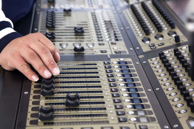sound machine Adult Close-up Control Control Panel Day Engineer Horizontal Human Body Part Indoors  Industry Instrument Machine Music One Man Only One Person Only Men People Person Sound Sound Mixer Studio Technician Technology Working Workshop