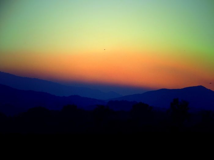 Mountain Sunset Silhouette Dramatic Sky Sky Nature Beauty In Nature Outdoors Scenics No People Mountain Range Landscape Wildfire Wildfiresmoke Lake County, Ca Day View Non-urban Scene Fire