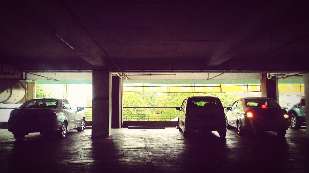 Insdie car park.