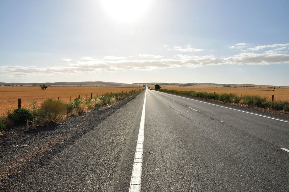Australia Cloud - Sky Country Road Diminishing Perspective Field Hay Planes Landscape No Edit/no Filter Road Road Marking Sky The Way Forward Travel Vanishing Point